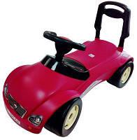 """Детский автомобиль для прогулок. Каталка толокар машина """"Мерсик"""" малиновый."""