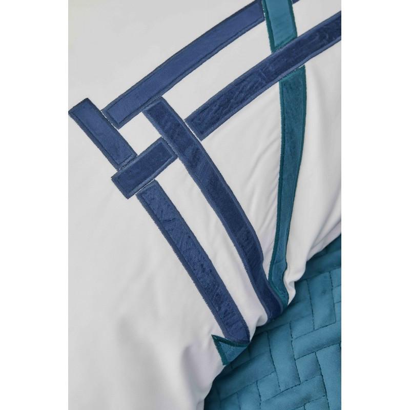 Набор постельное белье с покрывалом Karaca Home - Hiedra zumrut 2019-1 евро
