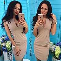 Платье футляр женское с красивым вырезом разные цвета Smsa3010, фото 1