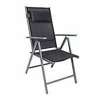 Садовый стул CORDOBA металлический шезлонг черный