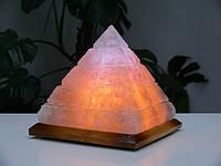 Соляная лампа Пирамида египетская 4-6 кг цветная светильник
