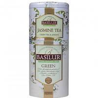 """Чай Базилур """" Цветы и фрукты Цейлона """" Зеленый чай+Жасмин 125 г ж/б"""