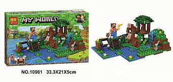 """Конструктор Bela 10961 """"Тренування, Дресирування мавп"""" 226 деталей (аналог Lego Майнкрафт, Minecraft)"""