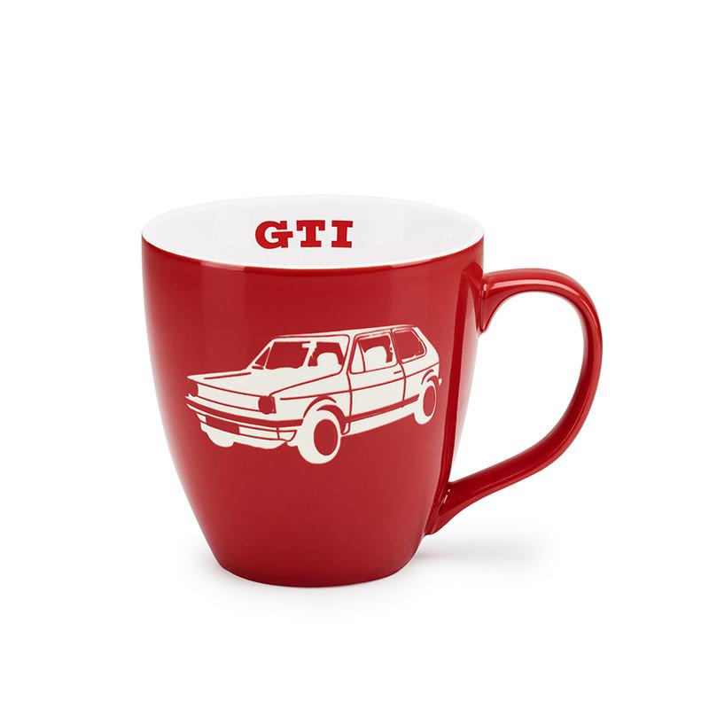 Оригинальная фарфоровая кружка Volkswagen GTI Mug, Red / White (5KA069601A)