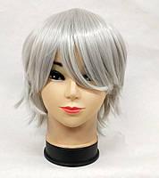 Парик женский серый короткий аниме косплей cosplay