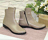 Ботинки женские кожаные демисезонные на низком ходу, цвет визон, фото 4
