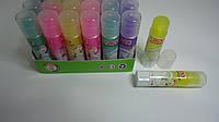 """Клей-карандаш Цветной """"Радужный Stick Желтый"""",8гр,силикатный для школы и офиса.Клей-олівець Кольоровий сухий """""""