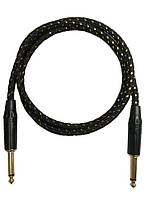 Шнур инструментальный 6,3 моно, 1 метр, сетка