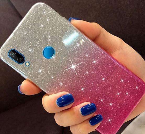 Чехол силиконовый 2 в 1 градиент блеск для Huawei Y6 2018 (ATU-L21)
