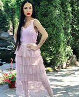Юбка фатиновая многослойная, юбка на резиночке, размер единый 42-44., фото 1