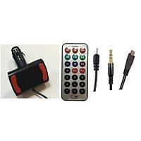 FM модулятор 6в1 с выходом micro-aux-6101, 1USB, пульт в комплекте (прямоугольные)