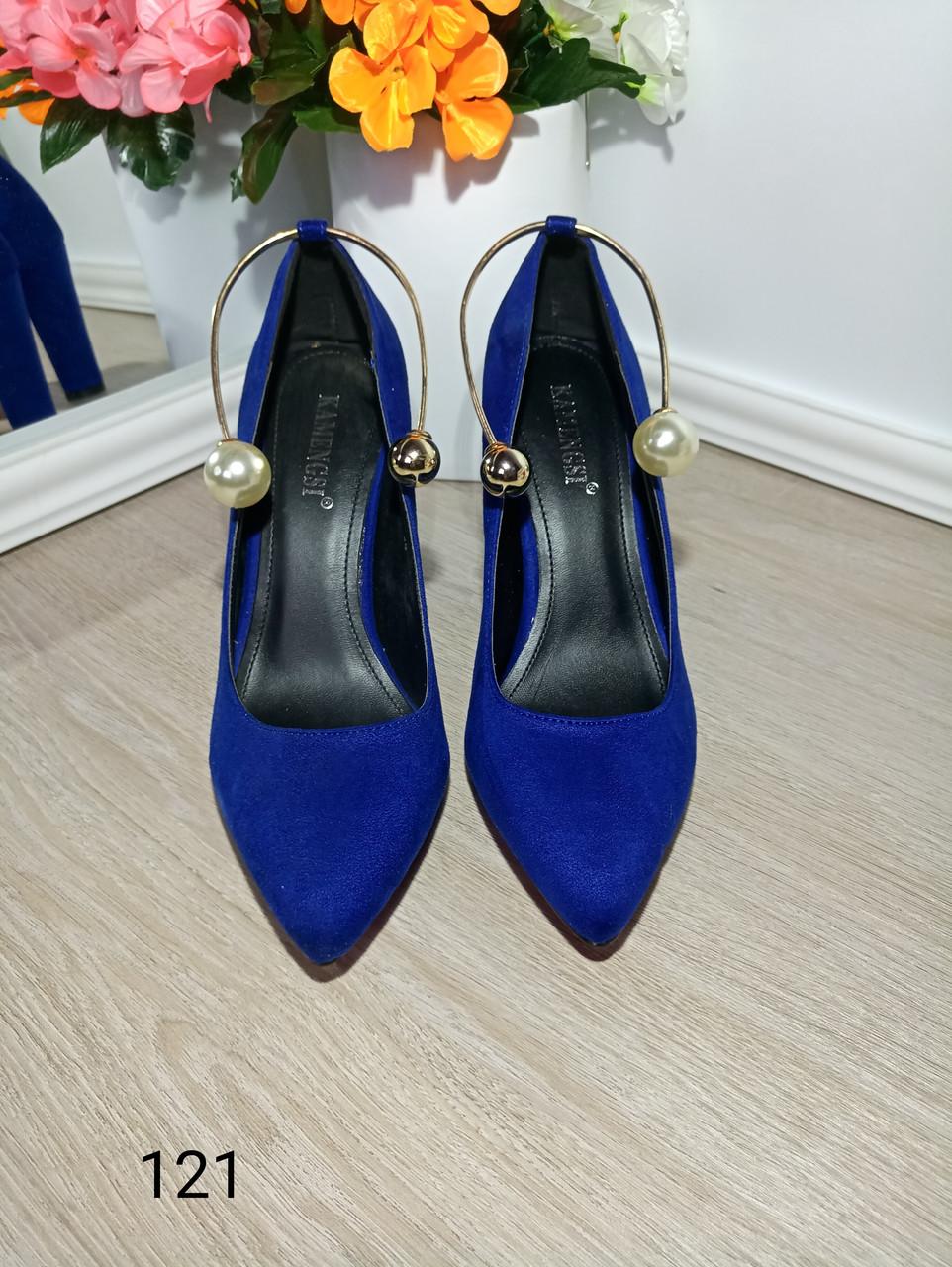 Жіночі туфлі синього кольору  продажа 5d95956d32fb0