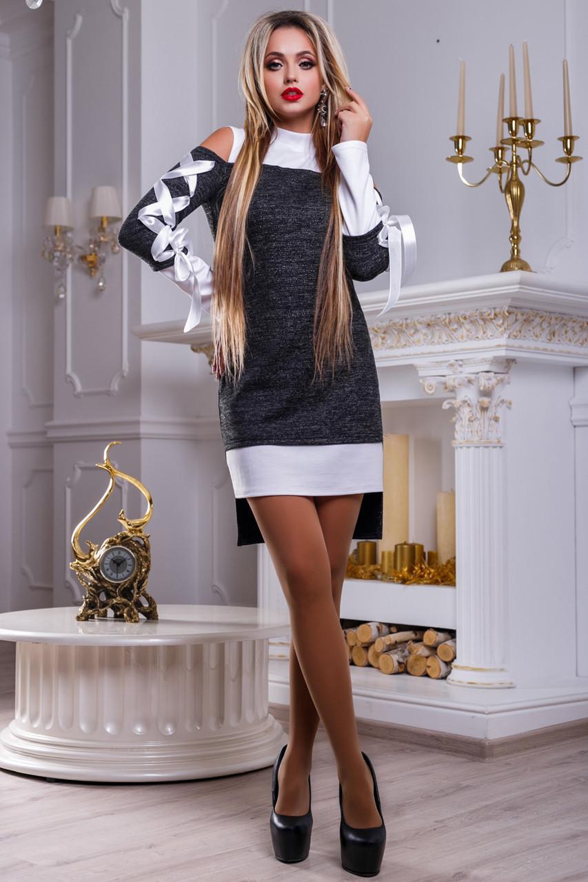 a7c5dd51636 ⭕️Нарядное бело-черное платье   Размер S