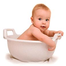 Засоби для купання малюків
