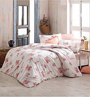 Двуспальное евро постельное белье Altinbasak Giselle somon Ранфорс