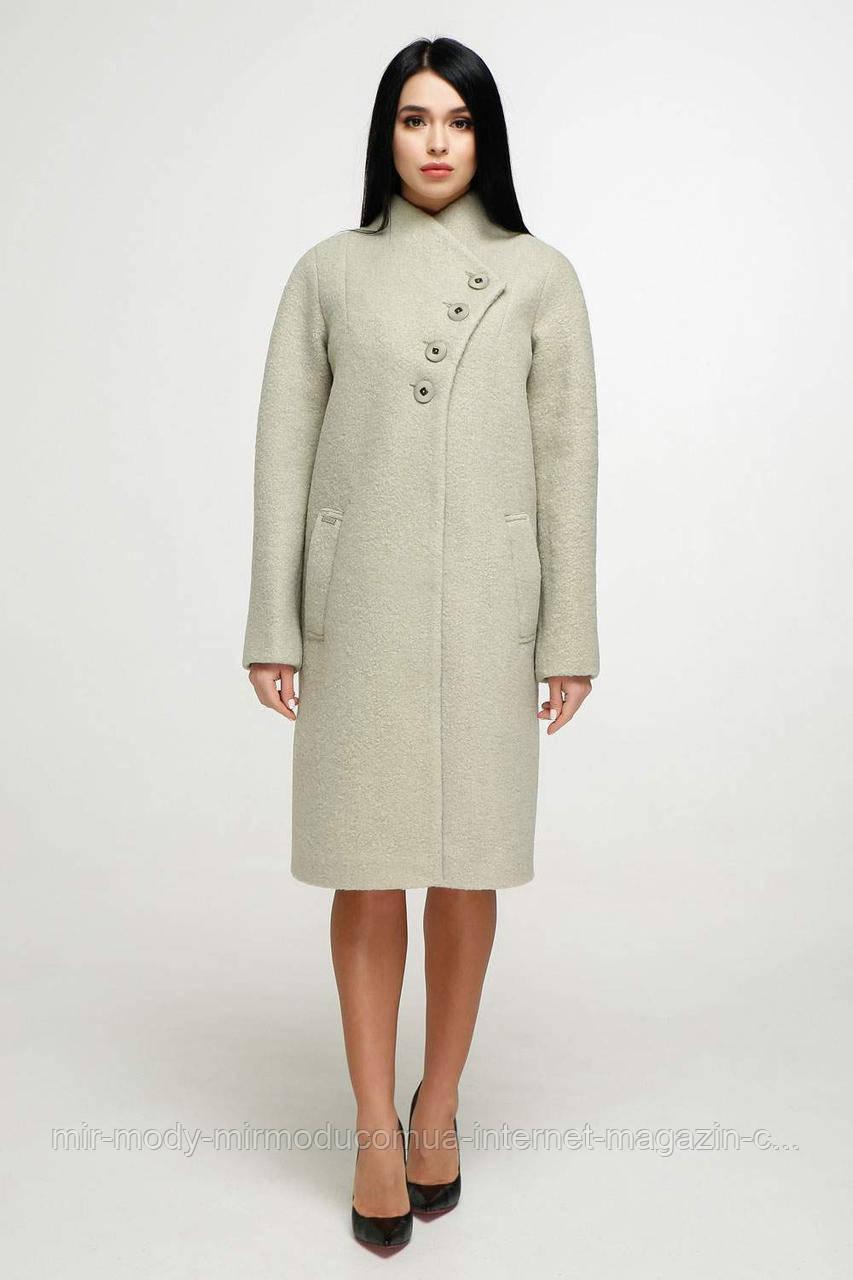 Пальто  демисезонное женское В-1142  олива  Тон 5 (6 расцветок) с 44 по 58 размер (фт)