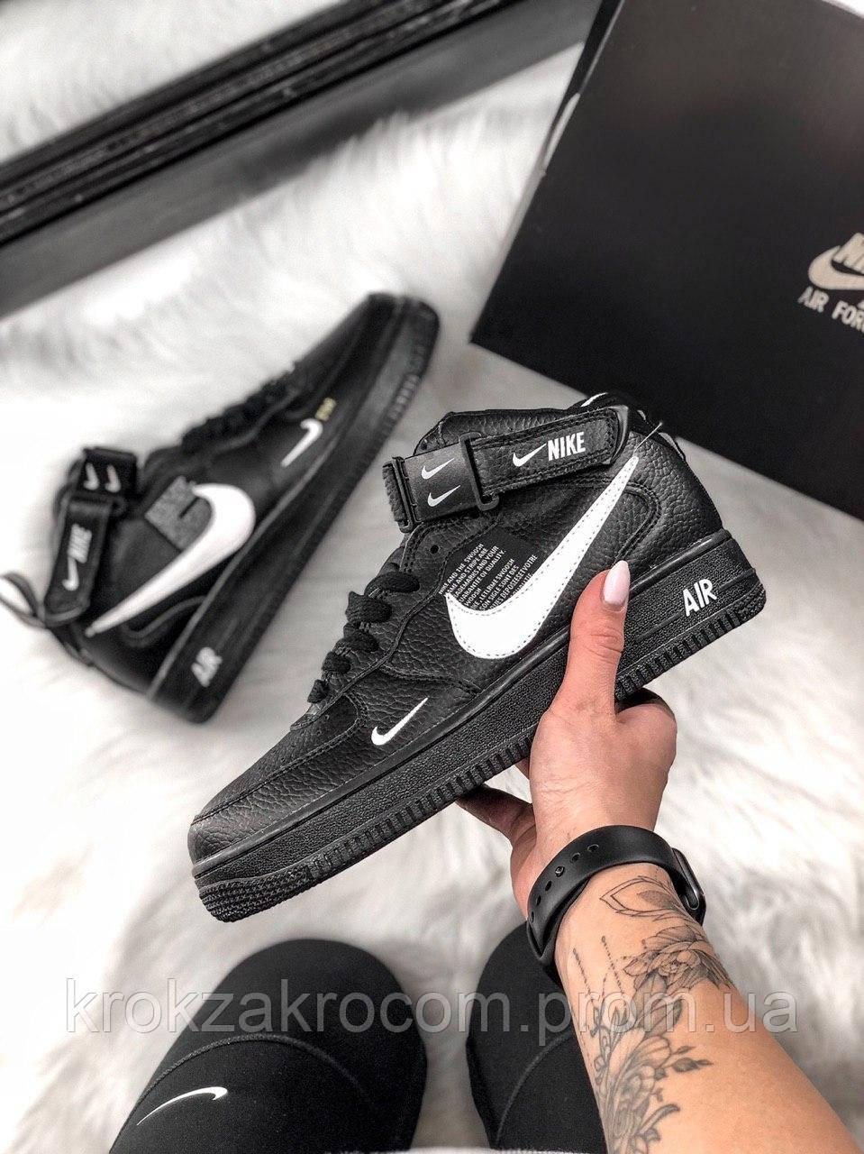 3eb78eda Кроссовки Nike Air Force 1 High Black replica AAA - Интернет-магазин