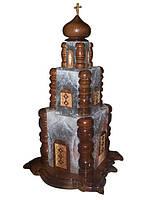 Соляная лампа Церковь 10-12 кг цветная светильник