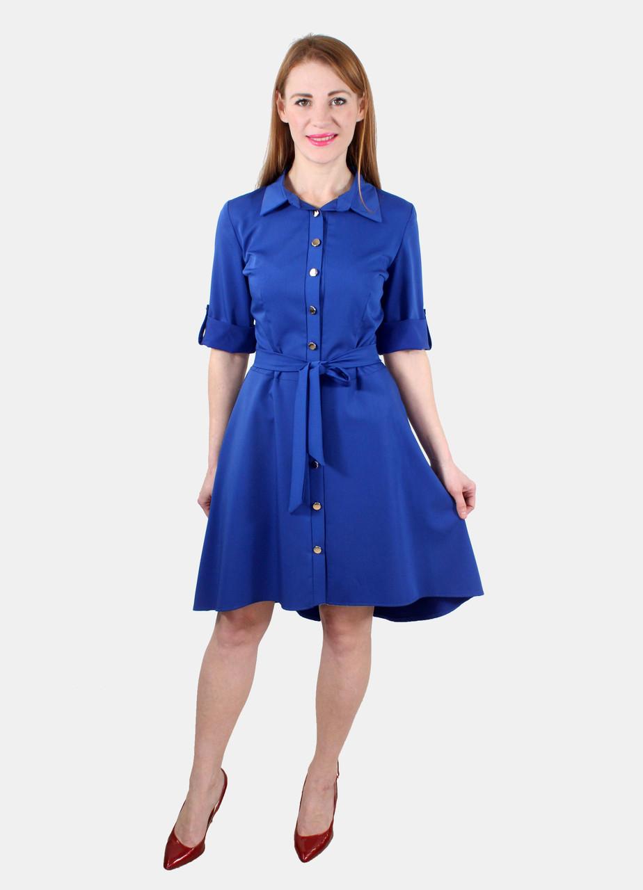 Платье халат с асимметричной юбкой 44 р