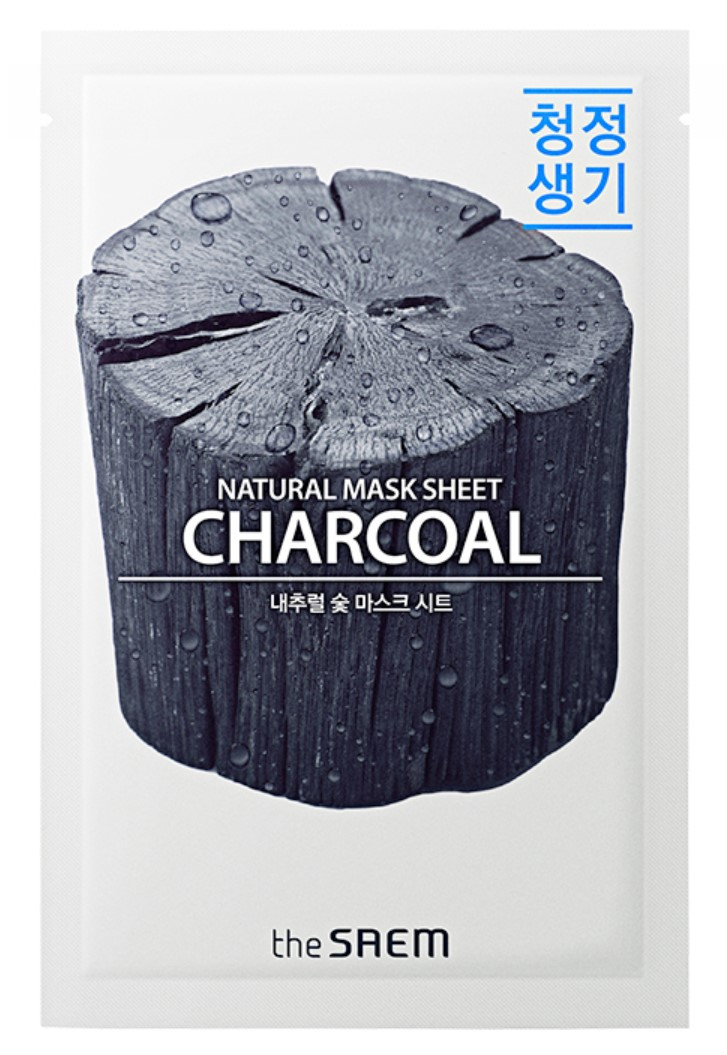 Тканевая маска для лица с древесным углем The Saem Natural Charcoal Mask Sheet 21 мл (8806164159019)