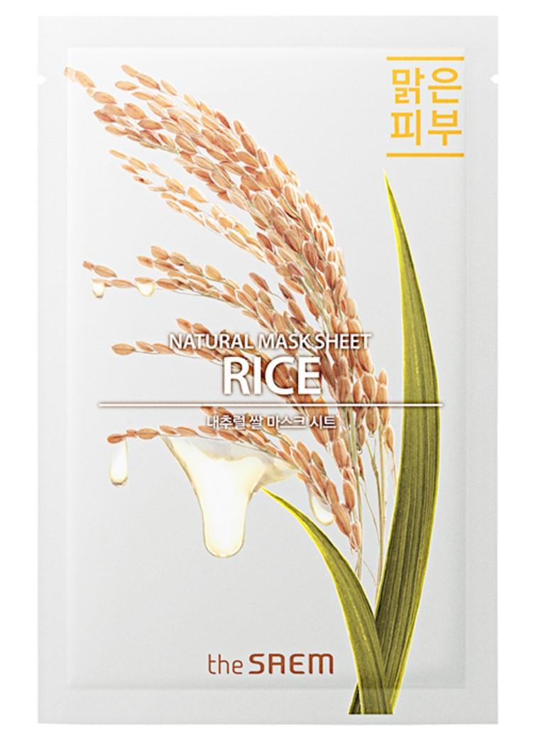 Питательная тканевая маска для лица The Saem Natural Mask Sheet Rice 21 мл (8806164158920)