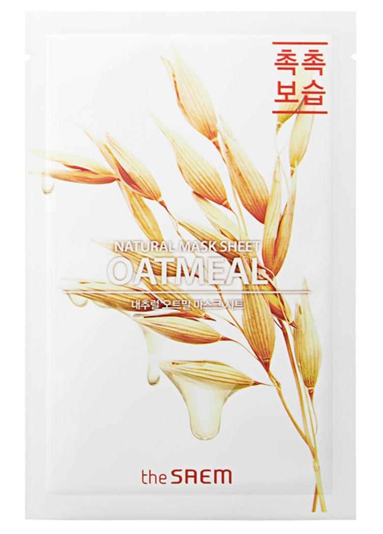 Маска для лица с овсянкой The Saem Natural Oatmeal Mask Sheet 21 мл (8806164158876)