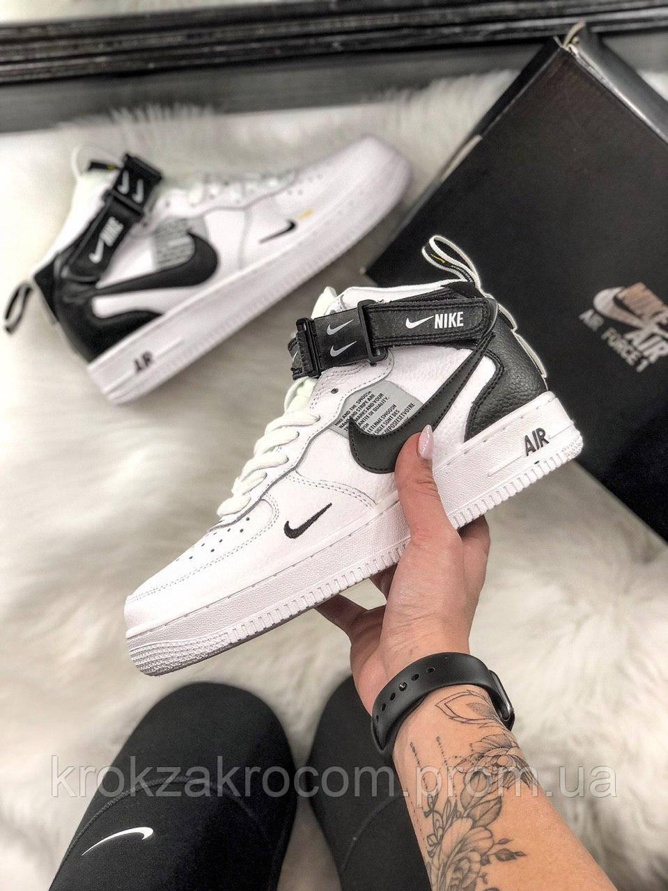 20cfdf96 Кроссовки Nike Air Force 1 High Black/White replica AAA - Интернет-магазин