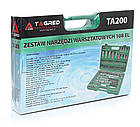 Набір ключів інструменти в кейсі TORX TAGRED TA 200 деталей 108 шт для дому авто в кейсі, фото 6