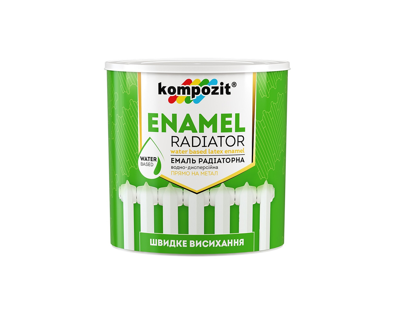Акриловая радиаторная эмаль Kompozit 0.75л