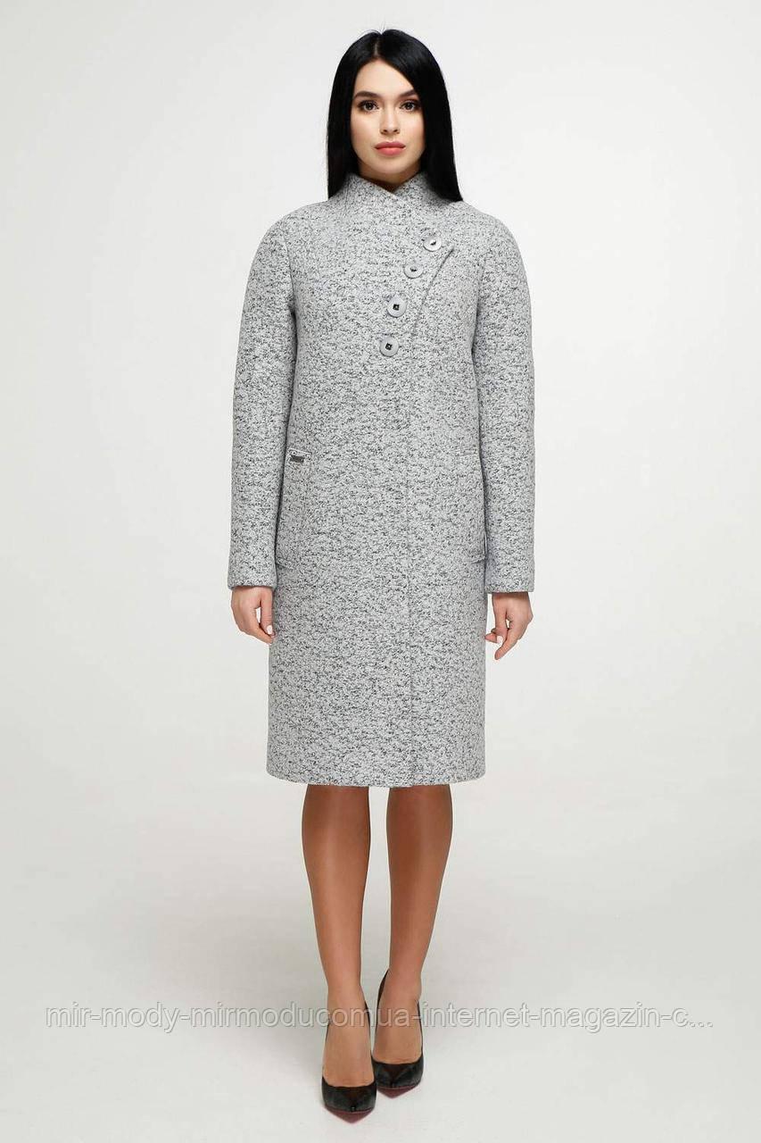 Пальто  демисезонное женское В-1142  серый Тон 4  (6 расцветок) с 44 по 58 размер (фт)