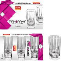 Набір склянок 3шт Panorama високий