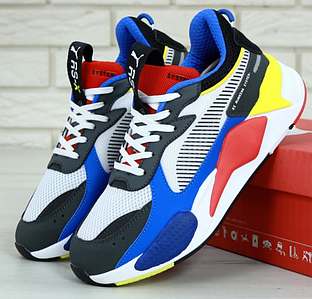 Мужские кроссовки Puma RS-X Toys White/Royal Blue-Red, Пума РС-х