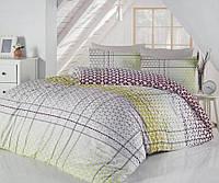 Двуспальное евро постельное белье Altinbasak Saye yesil Ранфорс