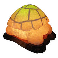 Соляная лампа Черепаха 5-6 кг цветная светильник