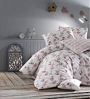Двуспальное евро постельное белье Altinbasak Clair kirmizi Ранфорс