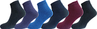 """Шкарпетки жіночі однотон махра короткий """"lomani"""""""