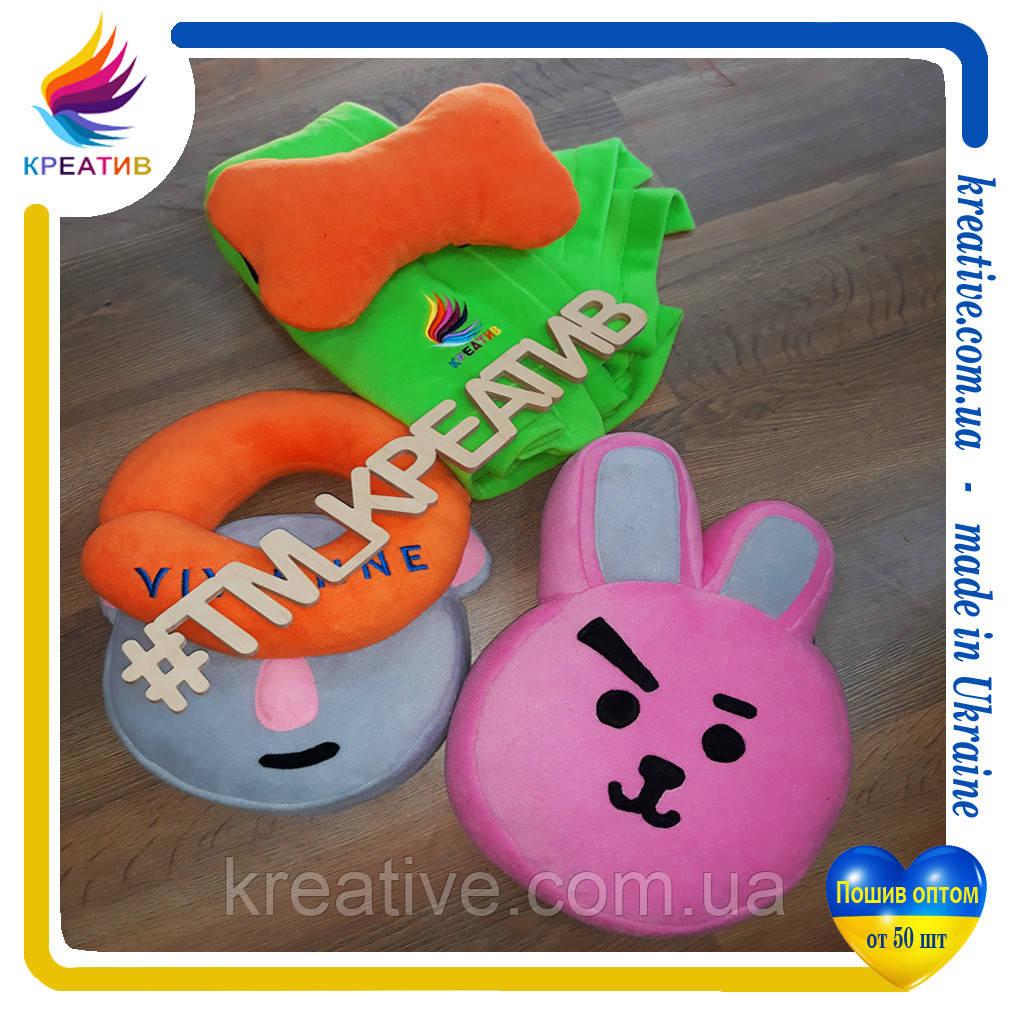 Подушки игрушки декоративные с нанесением логотипа под заказ (от 50 шт.)