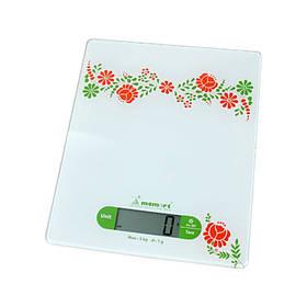 Весы кухонные электронные на стеклянной платформе Momert