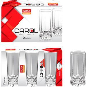 Набор стаканов 3шт Carol высокий