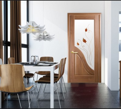 Межкомнатные двери Амата с цветным рисунком