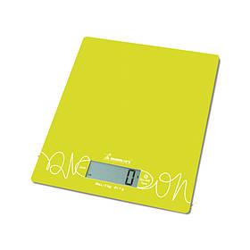 Весы кухонные электронные на стеклянной платформе Лимонные Momert