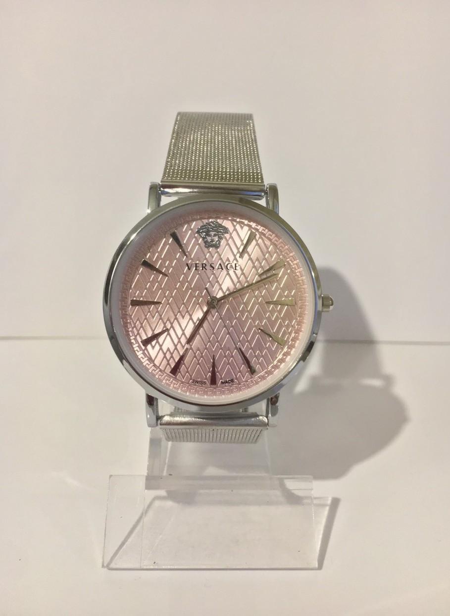 Женские наручные часы Versace (Версаче), серебристо-розовый цвет ( код: IBW011SP )