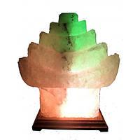 Соляная лампа Китайский домик 5-6 кг цветная светильник