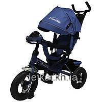 Велосипед трехколесный TILLY Camaro T-362 Синий,  муз.русс.надувные колеса. 7цв.