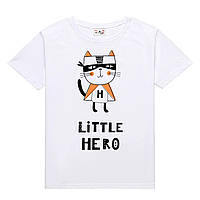 Футболка LITTLE HERO детская белая