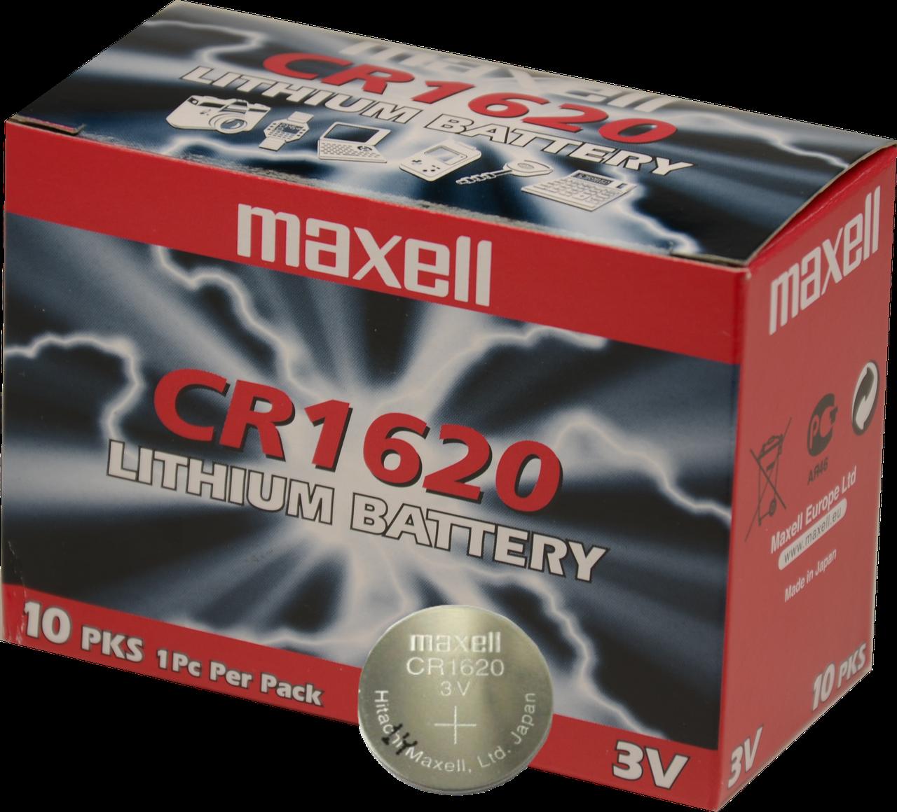 Батарейка Maxell CR1620, 10 шт(30 грн. за 1 шт./ 300 грн. за 10 шт.)
