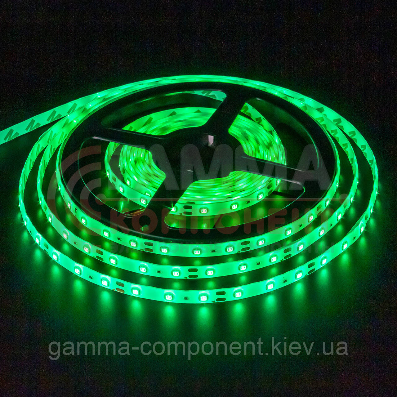 Светодиодная лента SMD 5050 (60 LED/м), зеленый, IP65, 12В