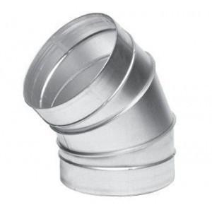 Отвод вентиляционный оцинкованный 30°, 45°, 60°, 90°