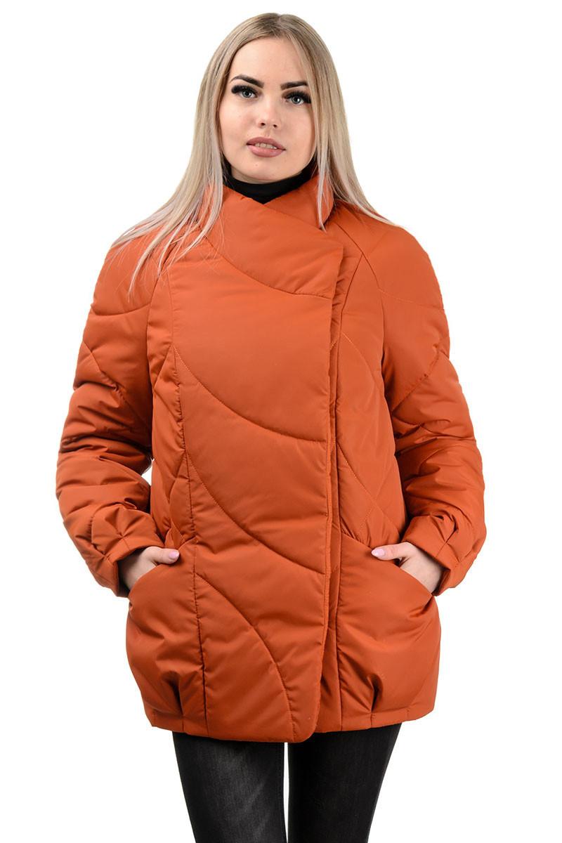 237 Демисезонная куртка «Эдита» терракот (44-50)