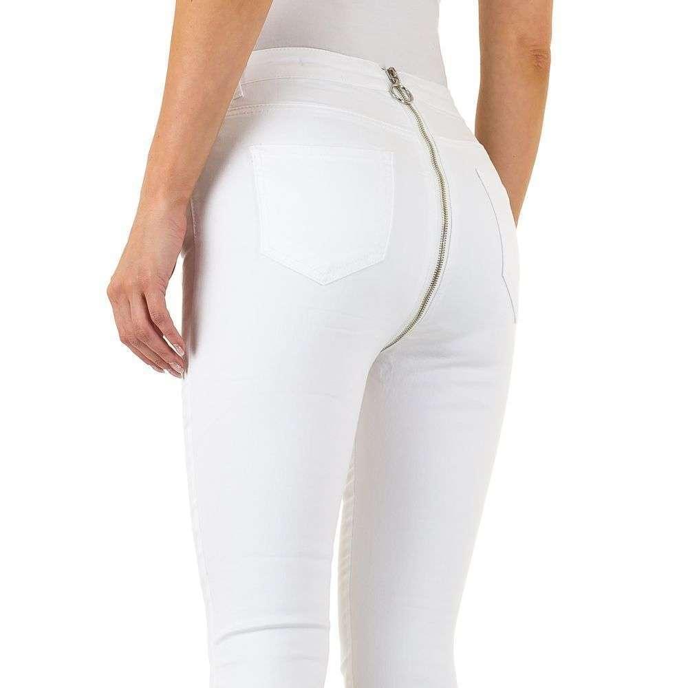 Женские джинсы скинни с молнией на ягодицах Daysie Jeans (Европа) Белый